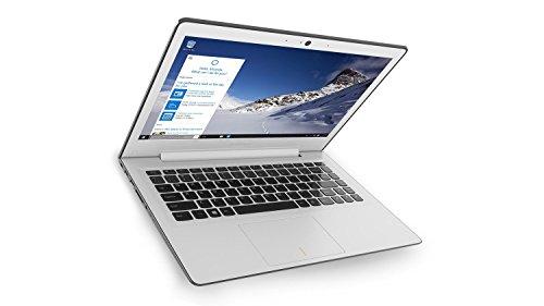 """Lenovo 80Q2007QIX IdeaPad 500S Portatile con Display da 13.3"""", Processore Intel Core i3-6100U da 2.3 GHz, 4 GB DDR3L-SDRAM, 128 GB SSD, Scheda Grafica Intel HD Graphics 520, Windows 10 Home, Bianco"""