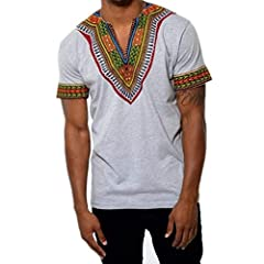 Imported 80%Polyester Machine washable,Fashion design Light weight and soft, comfortable and breathable Unique and special style, when you wear this dashiki tribal pattern graphic T-shirt, you'll get more compliments