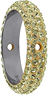 Swarovski pave Thread Ring Jonquil Color Stainless Steel Becharmed 16.50 mm-4.50 mm