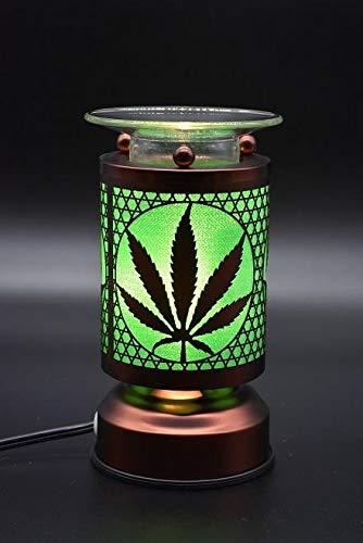VISTA Electric Tart Burner Oil Wax Melts Warmer Marijuana Pot Leaf Design Aroma Therapy Lamp