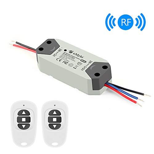 eMylo Smart Wireless RF Motor Controller Schalter RF Relaismodul AC 220V Motor Fernsteuerungsschalter 90V-250V 433Mhz für Rolltor/elektrischer Vorhang/Wasserpumpe Control Motor Vorwärts/Rückwärts