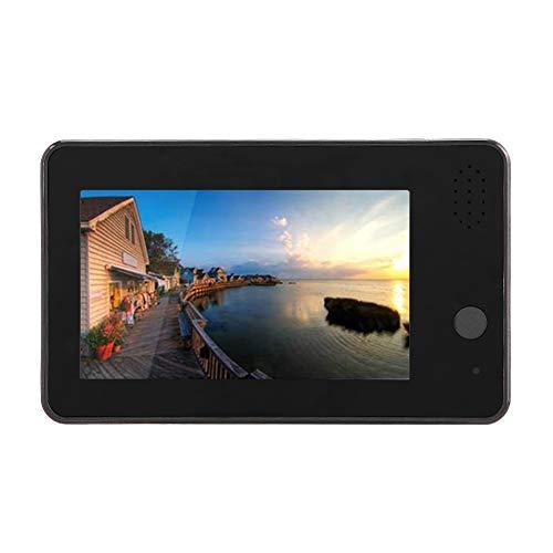Visor de puerta LCD de 4.3 pulgadas, monitor de cámara de puerta con visión nocturna, visor de puerta de aplicación remota WIFI para ancianos y niños, visor de mirilla de puerta PIR para el hogar