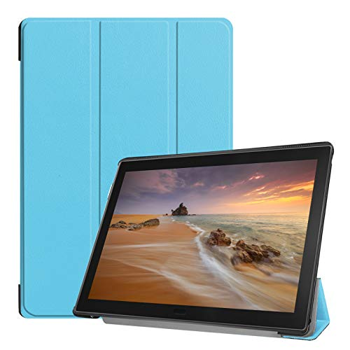 Lobwerk Tablet Hülle für Lenovo Tab E10 TB-X104F 10.1 Zoll Slim Hülle Etui mit Standfunktion & Auto Sleep/Wake Funktion Hellblau