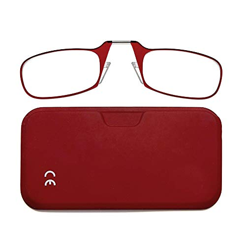 NEWVISION®Occhiali da Lettura con Custodia, Senza Astine, Occhiali da Vista per Uomo e Donna,NV1171(+1.50, rosso)