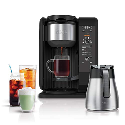 Ninja Hot and Cold Brewed System, Auto-iQ Tea and Coffee Maker with...