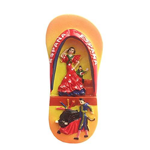 Spanien 3D Flip Flop Kühlschrankmagnet, Souvenir, Geschenk, handgefertigt, Heim- & Küchendekoration, Spanien Kühlschrankmagnet-Kollektion