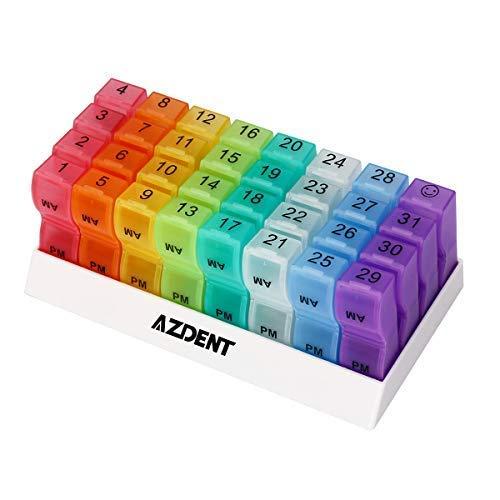 Caja organizadora de pastillas mensuales, dispensador de pastillas