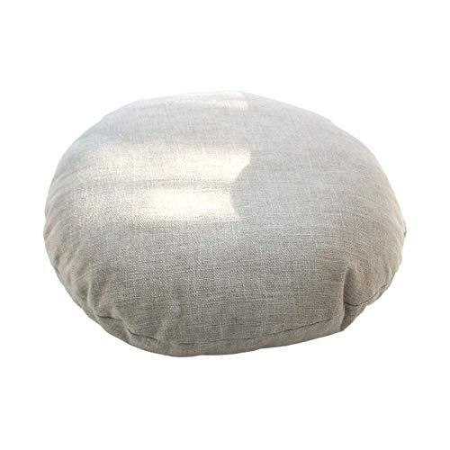 TYHZ Cojines Para Sillas Cojín de la silla redonda, grueso lino grande acolchado para acolchado para almohada Silla de asiento almohadilla de asiento Tatami Futon Meditación de la oficina de yoga coji