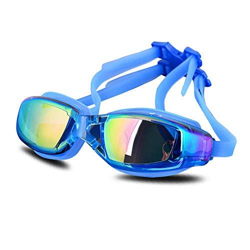 MHP zwembril Professionele zwembril waterdicht anti-mist HD grote doos Blauw 1