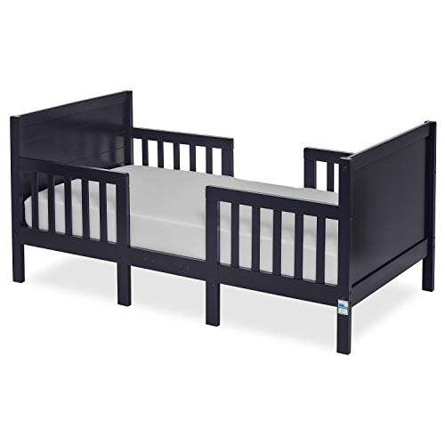 Dream On Me Hudson 3 In 1 Convertible Toddler Bed in Navy, Greenguard Gold Certified