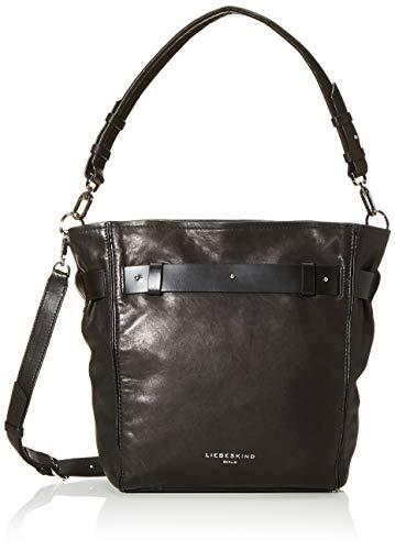 Liebeskind Berlin Damen Soft Bucket-Hobo Medium Schultertasche, Schwarz (Black), 14x32x27 cm