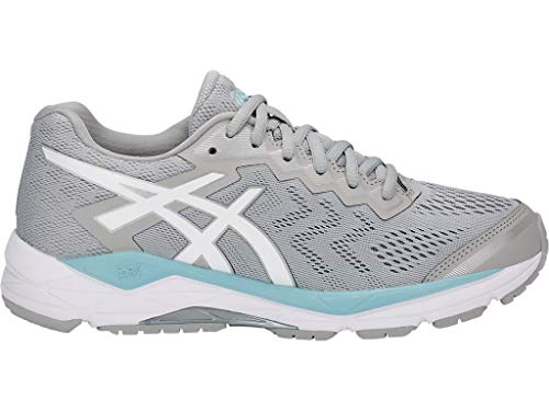 ASICS Women's Gel-Fortitude 8 Running Shoes, 11M, MID Grey/White/Porcelain Blue