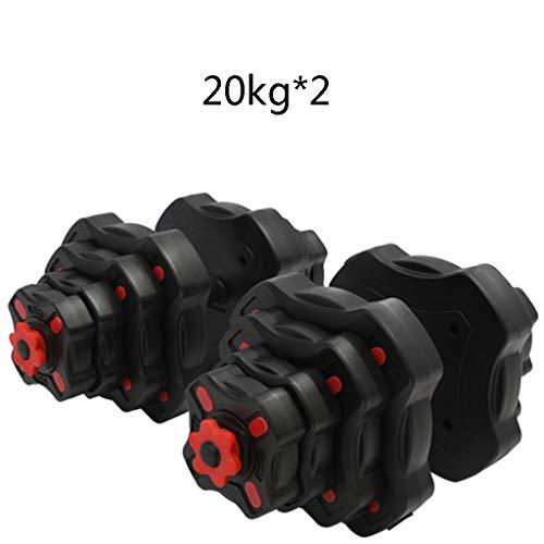 ZYCSKTL Sports Hanteln zum Kurzhanteln und Langhanteln for Fitnessstudios, umweltfreundliche Kurzhanteln for Heimfitnessgeräte und Anzüge mit doppeltem Verwendungszweck (Color : Black 40kg)