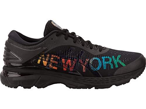 ASICS Men's Gel-Kayano 25 NYC Running Shoes, 12.5M, Black/Black