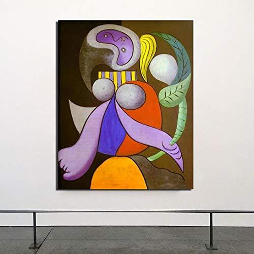 AQgyuh Puzzle 1000 Piezas Picasso Mujer y Pintura Pura Pintura del Arte del mar Puzzle 1000 Piezas educa Juego de Habilidad para Toda la Familia, Colorido Juego de ubicación.50x75cm(20x30inch)