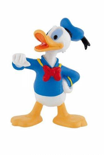 Bullyland 15345 - Spielfigur, Walt Disney Donald, ca. 6,5 cm groß, liebevoll handbemalte Figur, PVC-frei, tolles Geschenk für Jungen und Mädchen zum fantasievollen Spielen