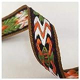 JIWEIER 2cm breit Weinlese DIY-ethnischen Art-Stickerei-Spitze-Ordnungs-Spitze-Band-Nähen Kleid Kleidung Mode Dekoration DIY Sewing Supplies (Size : 1)