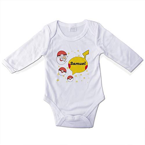 Body Bebé Niño Personalizado con Nombre. Regalos Personalizados para Bebés. Bodies Personalizados Manga Larga. Varias Tallas. Pokemon