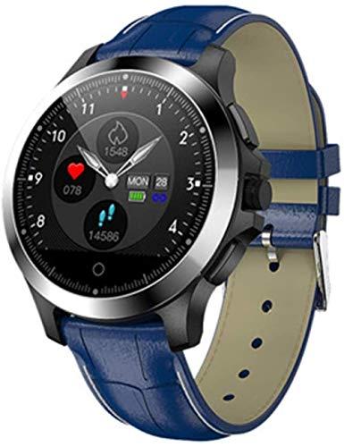 hwbq ECG + PPG Monitor de ritmo cardíaco para hombres y mujeres al aire libre impermeable Bluetooth Tracker contador de pasos, multifunción reloj inteligente multideportivo