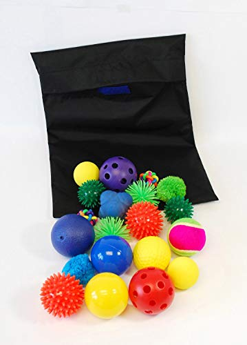 TickiT 72446 Bolsa con pelotas sensoriales, 20 piezas distintas