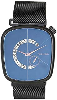 Magnetic Watch Quartz Analog Black Dial Mens Watch Unisex Magnetic Clasp (Black)