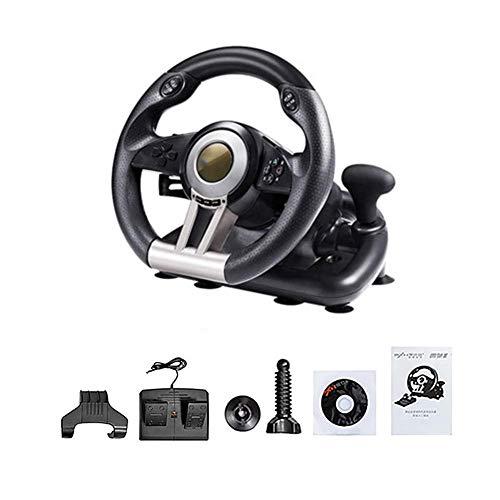 WSMLA Racing Wheel Overdrive for Un Jeu Officiel de Volant, Driving Force Racing Wheel Simulation par Ordinateur Racing Simulation Voiture PC Support / PS3 / PS4 / Computer Jeu de Course Directeur