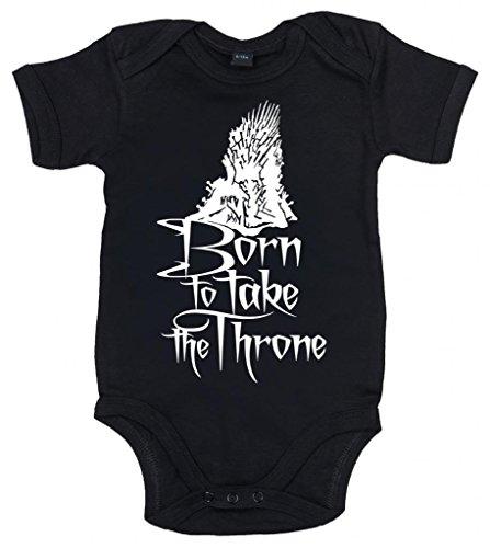 Image Vêtements bébé, Born to Take The Throne, Body Bébé, 3-6m, Noir