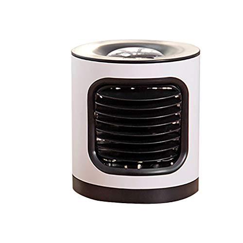 Mobile Klimageräte, Mini Persönliche Klimaanlage, 4 in 1 Luftkühler Luftbefeuchtung Ventilator Nachtlicht, 3 Leistungsstufen 7 Verschiedene Farben, Ideal für Arbeitsplatz und Daheim