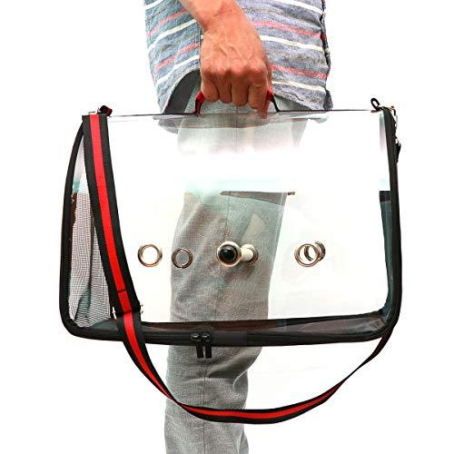 Gugutogo Vogelkäfig Außenkäfig Reisekäfig PVC Transparent Vogelkäfig Atmungsaktiv Vogelkäfig Papagei Handtasche Rucksack