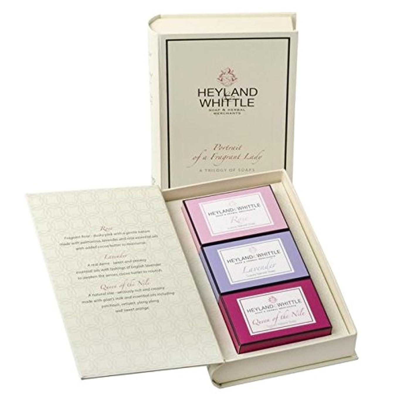 免除調整する後悔&削る石鹸帳、香りの女性の肖像画 x4 - Heyland & Whittle Soap Book, Portrait of a Fragrant Lady (Pack of 4) [並行輸入品]