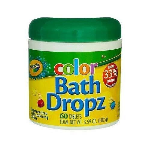 Bath Dropz Water-Coloring Tablets, 3.59 oz, 60 Ct