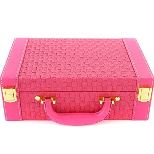 SNHH Schmuckkoffer, Theken, Schreibtische, Wohnzimmer, Schmuck Organizer(Pink 1)