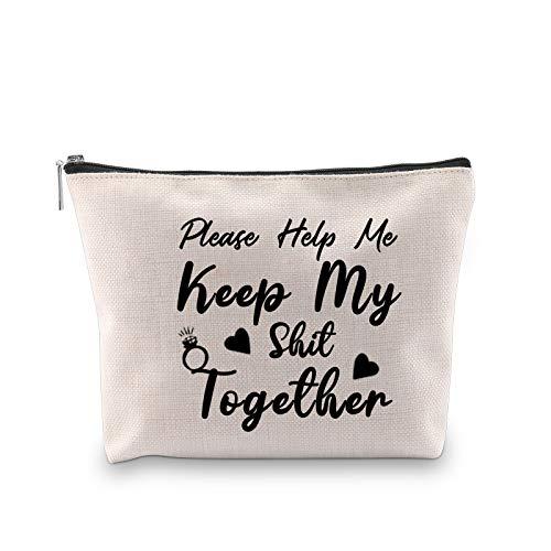 Regalo inspirado en la novedad, por favor ayúdame a mantener mi juntos bolsa de cosméticos para mujeres regalo de cumpleaños