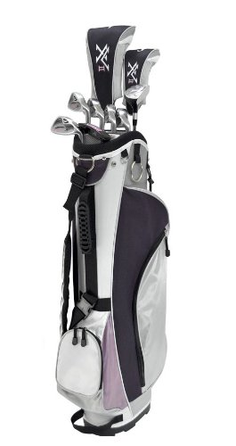 Knight Women's 12 Piece Complete Golf Set (Right Hand, Ladies Flex, Driver, 3 Fairway Wood, 4/5 Hybrid, 6-PW, Putter, Bag)