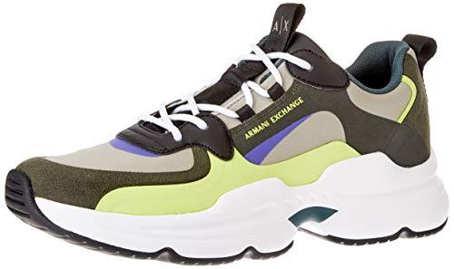 Armani Exchange Herren Tokyo Chunky Sneaker, Fango, 45 EU