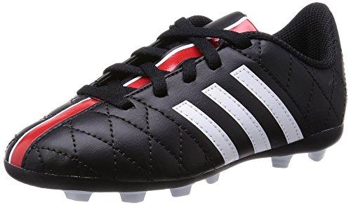 Adidas Jungen 11Questra FxG Jr Fußballschuhe, Schwarz (Schwarz/Weiß/Rot), 36 2/3 EU