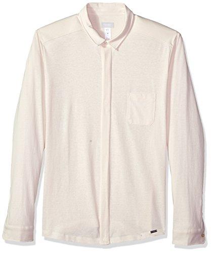 Hanro Herren River Long Sleeve Button Front Shirt Pyjama-Oberteil (Top), Pearl, X-Groß