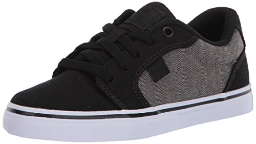 DC Boys' Anvil TX SE Skate Shoe, Dark Grey, 2 M M US Big Kid