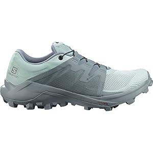 Salomon Women's WILDCROSS GTX W Trail Running, Pastel Turquoise/Pastel Turquoise/Trooper, 8