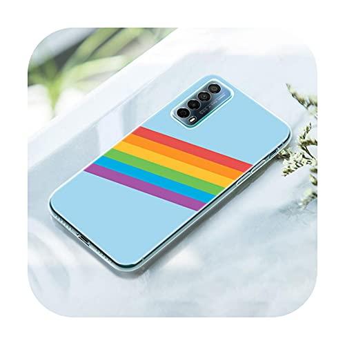 Rainbow Art - Funda de silicona para Huawei P50 Pro P40 Lite E P30 Pro P10 Plus P20 Lite P Smart Z 2021 Pro 2019 Soft Cover-004-P30 Lite