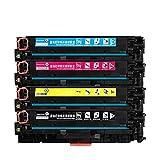 CF380A CF381A CF382A CF383A 312A Cartucho de tóner de Color Compatible Impresora Color Laserjet Pro MFP M476dw M476dn M476nw (Color : C)