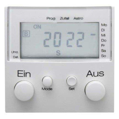 Hager s1 - Módulo interruptor horario con display conexion brillo blanco polar