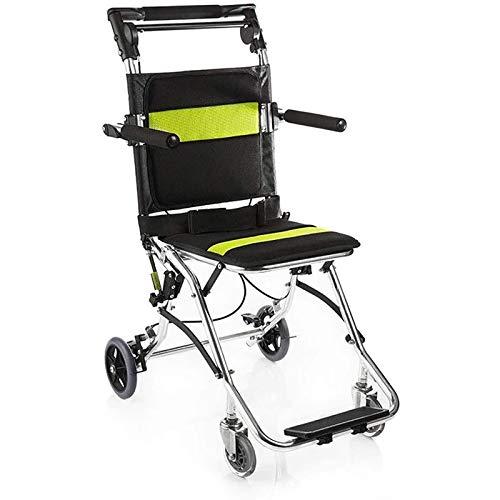 Möbel Dekoration Rollstuhl Aluminiumlegierung Leichter Zusammenklappbarer Schubrollstuhl