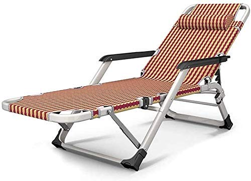 ZBBN Sillón reclinable Plegable, Tumbona, Sillón Tumbona de jardín Silla Plegable Tumbona Muebles de jardín Tumbonas Impermeables de Metal para Oficina al Aire Libre