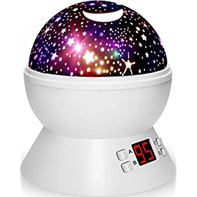 Night Lights Projector for Kids with Timer, Star Light Projector Gifts for 1-10 Years Old Kids Girls Boys Baby