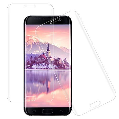 [2 pezzi] Pellicola protettiva in vetro temperato per Samsung Galaxy S7 Edge, durezza 9H, antigraffio, bordo rotondo 3D, copertura completa, anti-bolle