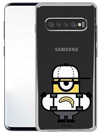 Finoo Handyhülle geeignet für Samsung Galaxy S10 Plus - mit Motiv und Optimalen Schutz TPU Silikon Tasche Case Cover Schutzhülle - Banana Skateboard