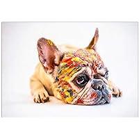 動物のキャンバスの絵画ペットの犬の壁の芸術のポスターとプリント壁の写真のリビングルームの装飾家の装飾-60x90cmx1フレームなし