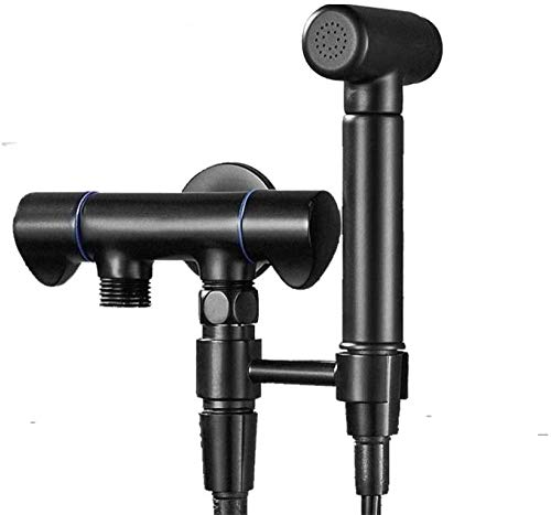 Hand Held Bidet Bidet Taps Toilet Hose Bidet Sprayer Toilet Sprayer Kit Best Personal Sanitary Shower Set - Dual-Use Dual-Outlet Washing Machine Faucet Black