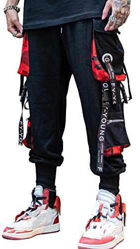 MOKEWEN Men's Hiphop Punk Jogger Sport Harem Pants